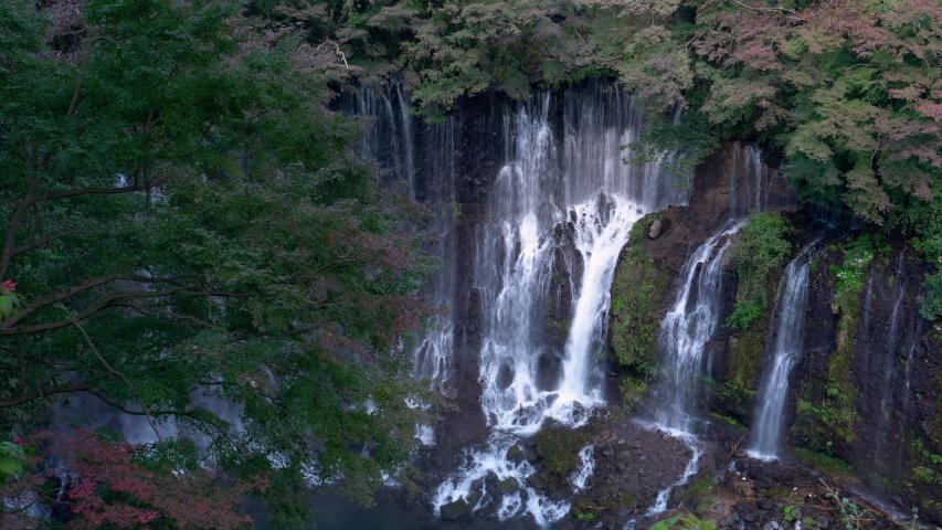 Shiraito Falls in Japan (zoom in) | Shutterstock HD Video #1037349152