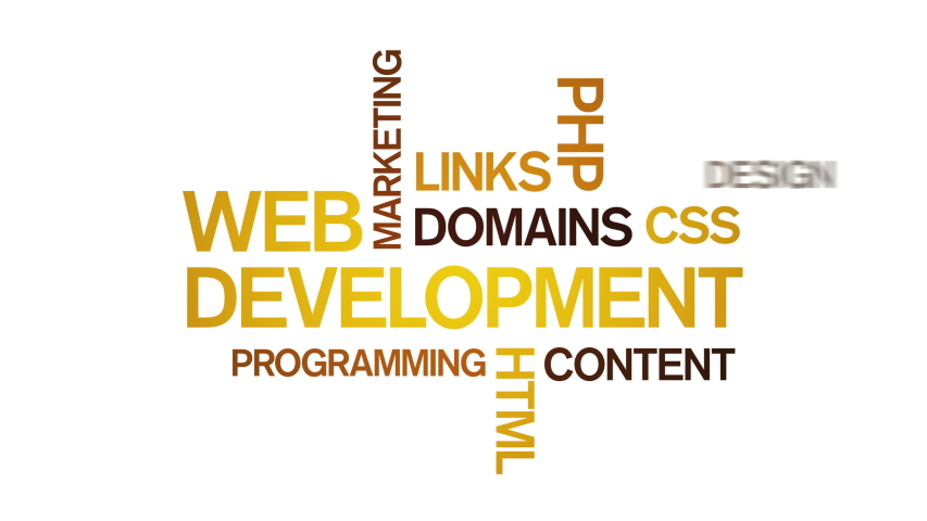 4k Web Development Animated Tag Word Cloud,Text Design Animation,Kinetic Typography.  | Shutterstock HD Video #1037458652