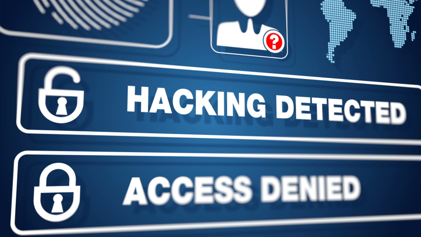 Anonymous hacked system user broke password network denied access to server file | Shutterstock HD Video #1037537492