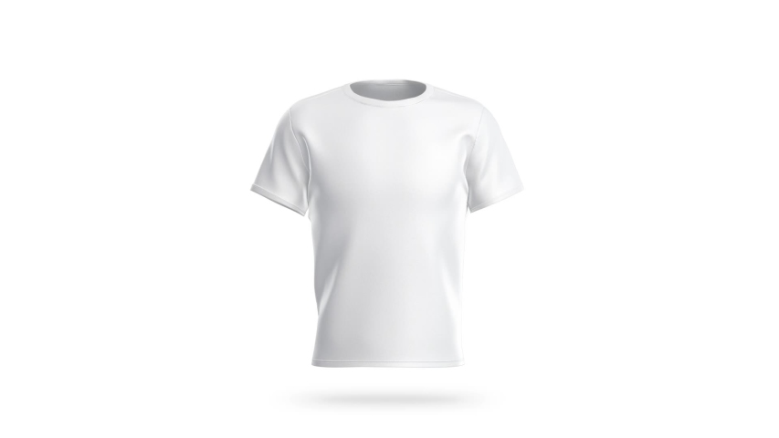 Blank White Clean T Shirt Mockup Stock Footage Video 100