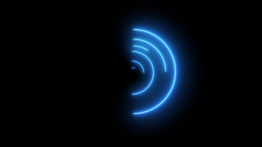 Neon colorful swirling rounds. Abstract creative HUD with neon, glowing light.  | Shutterstock HD Video #1037838722