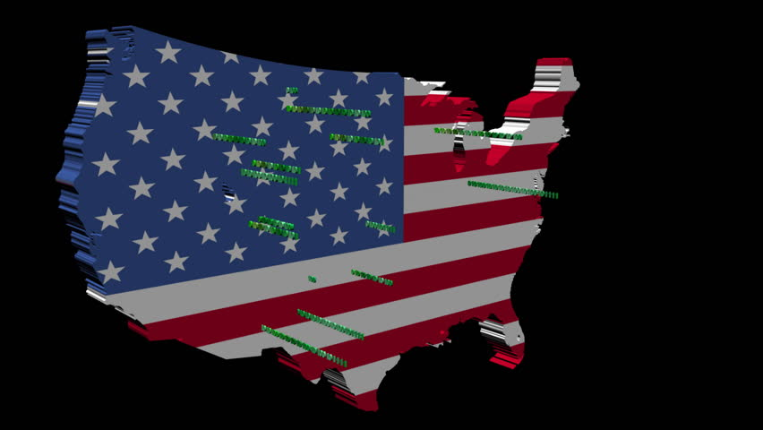 USA Map And American Flag From Space The United States Of - Us map day nasa