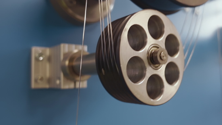 Camera Tracking Wires Made of Precious Metals, Factory Production, Rolling Machine Details Close Up | Shutterstock HD Video #1037925002