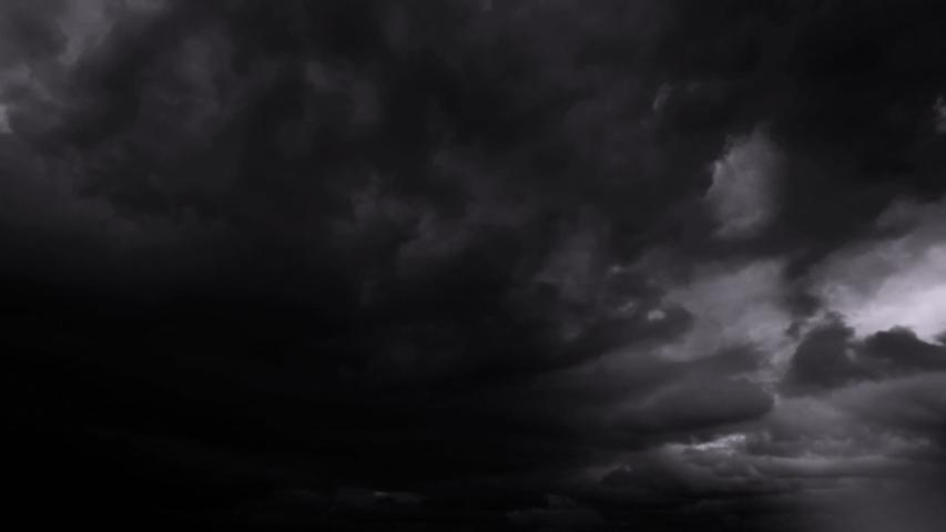 Dark Clouds And Lightning Storm Background | Shutterstock HD Video #1037991572