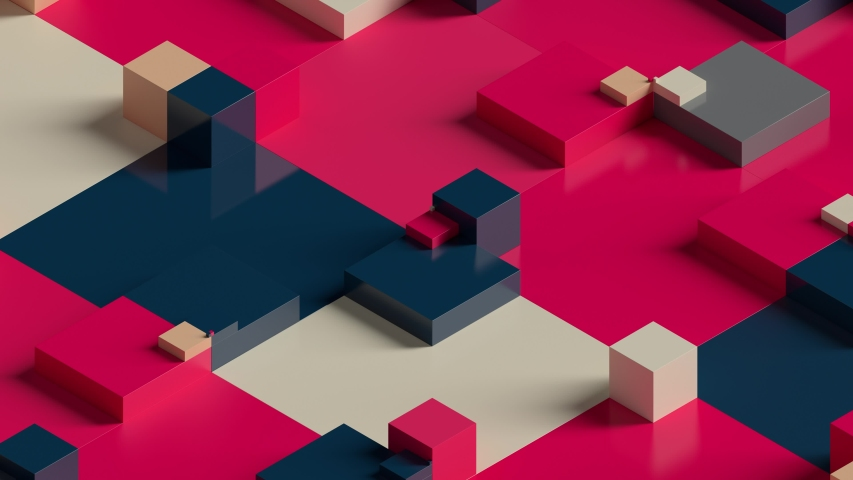 Abstract 3d render background made of rectangular shapes. Simple geometric forms. Loopable sequence. | Shutterstock HD Video #1038265412