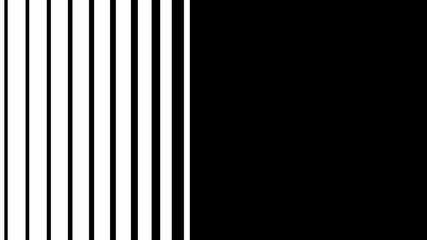 Transition opening animation. Abstract CGI motion graphics and animated transition mask template. Stripes transition with white and black color.