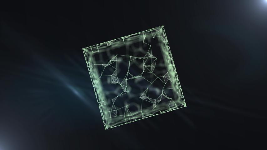 An extravagant cube form of artifact - mysterious Pandora's box. | Shutterstock HD Video #1038957932