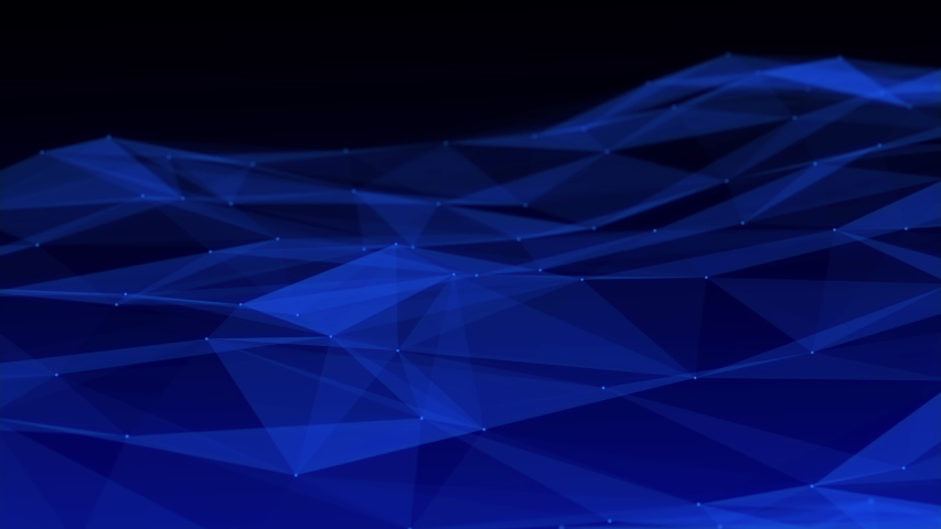 Abstract background motion transformation of empty copy space with plexus pattern of future innovation technology digital business concept with line network for decentralize communication connection | Shutterstock HD Video #1039203002