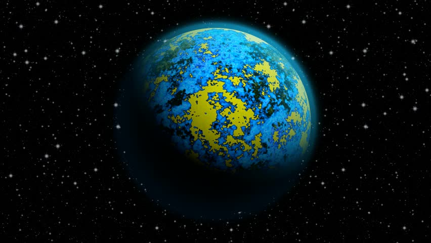 Animated abstract planet Earth with blue atmosphere and massive flood and continents breakdown. Looped full HD animation. | Shutterstock HD Video #10393502