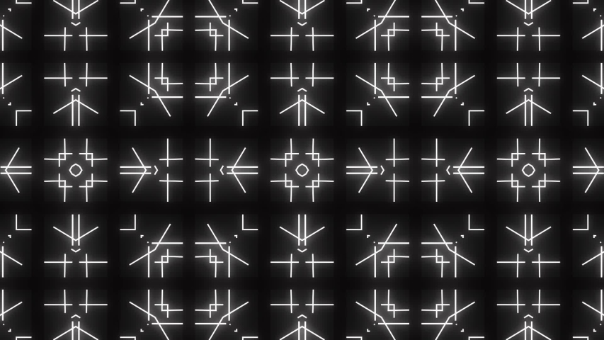 Abstract black background mosaic with white rotating lines. Background suitable for any kind presentations | Shutterstock HD Video #1039391162