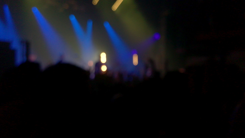 Blurred view of crowd people,celebrating festival at stage. | Shutterstock HD Video #1039629302