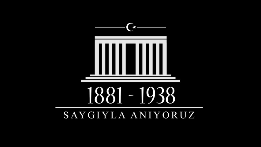 November 10, Mustafa Kemal Ataturk Death Day Anniversary. Memorial day of Ataturk. Video Animation Post. (Translation:Remembering with Respect.)