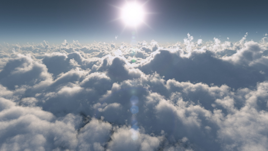 Perfectly Looped 4K Panoramic View over the Clouds at Sunset   Shutterstock HD Video #1040670722