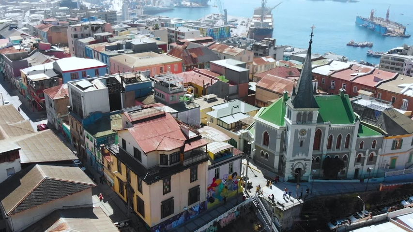 Hill Cerro Concepcion, Colorful Houses cottages Valparaiso Chile | Shutterstock HD Video #1041121522