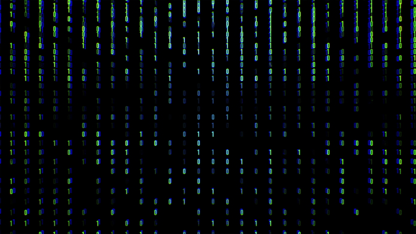 Binary code black and blue background with digits moving on screen and small glitches. Concept of technology.  | Shutterstock HD Video #1041855052