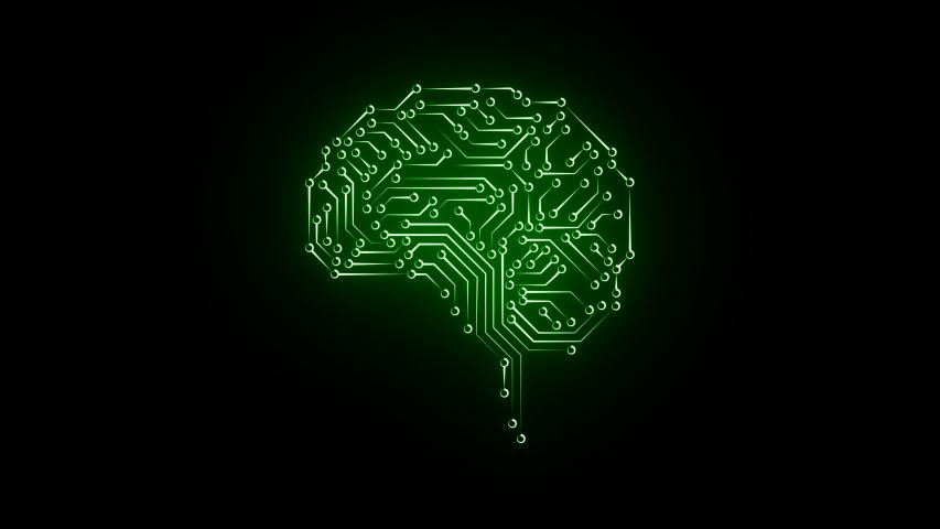 Digital brain and CPU. Digital network. Computing. Digital thinking | Shutterstock HD Video #1041917542