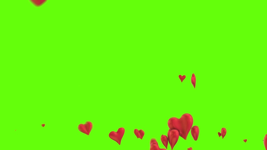 Social media background with many 3d animated heart objects. Animation of love for happy valentine's day. Green Screen Like icon. | Shutterstock HD Video #1042231462