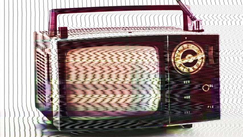 Multiple vintage and retro televisions spinning | Shutterstock HD Video #1042438702