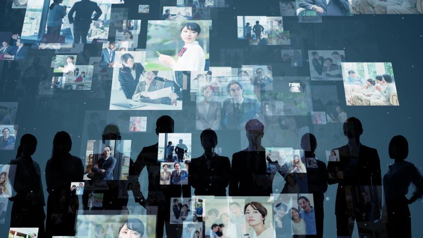 Global communication network concept. Social media. Worldwide business.   Shutterstock HD Video #1042802122