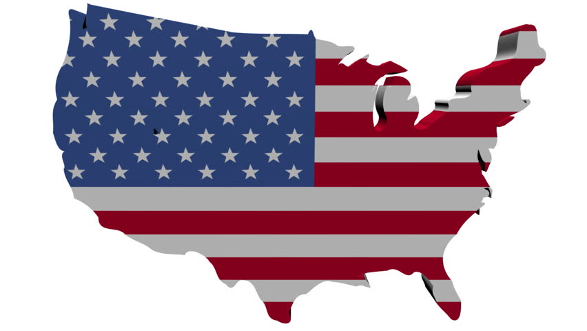 USA Map Flag With Container Ships Departing Animation Stock - Us map flag