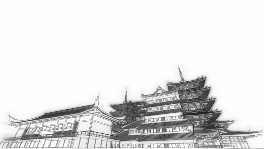 Japan Architecture 3D Video Animation | Shutterstock HD Video #1044937012