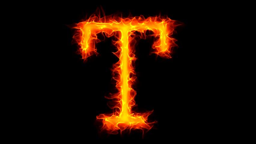 H Letter In Fire Hd Letter K On Fire Stock...