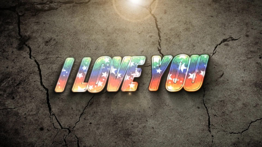 I love you in strong animation.  | Shutterstock HD Video #1045030642