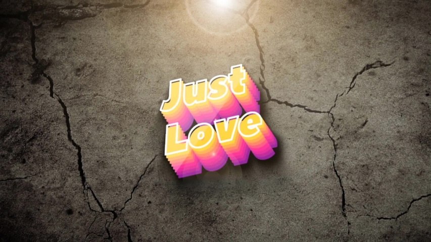 Just Love in strong animation | Shutterstock HD Video #1045032802
