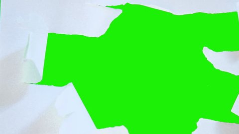 stop motion paper with  green background