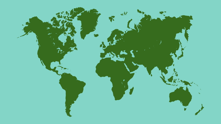 World map with location points. Graphic Motion Animation Illustration.  | Shutterstock HD Video #1045190992