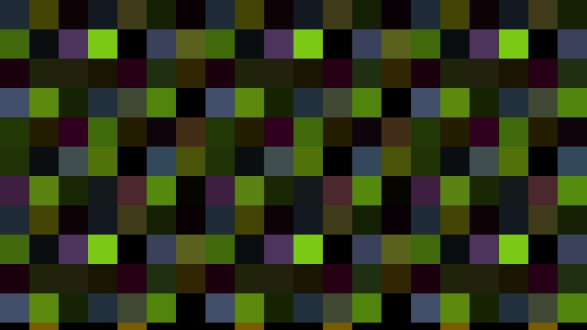 Abstract animation in black and white on a minimal background, with colored mosaic effect, which varies in size, angle and intensity.   Shutterstock HD Video #1045274182