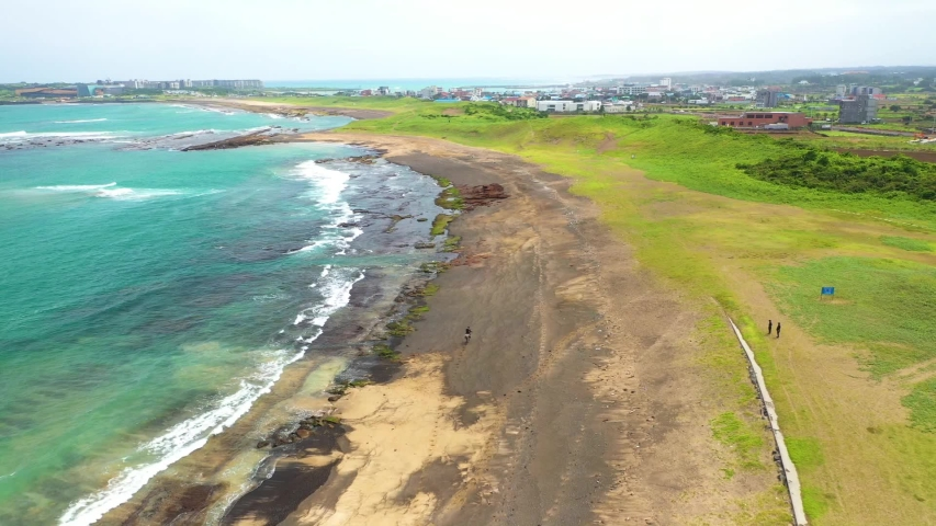 Shooting Gwangchigi Beach on Jeju Island | Shutterstock HD Video #1045450552