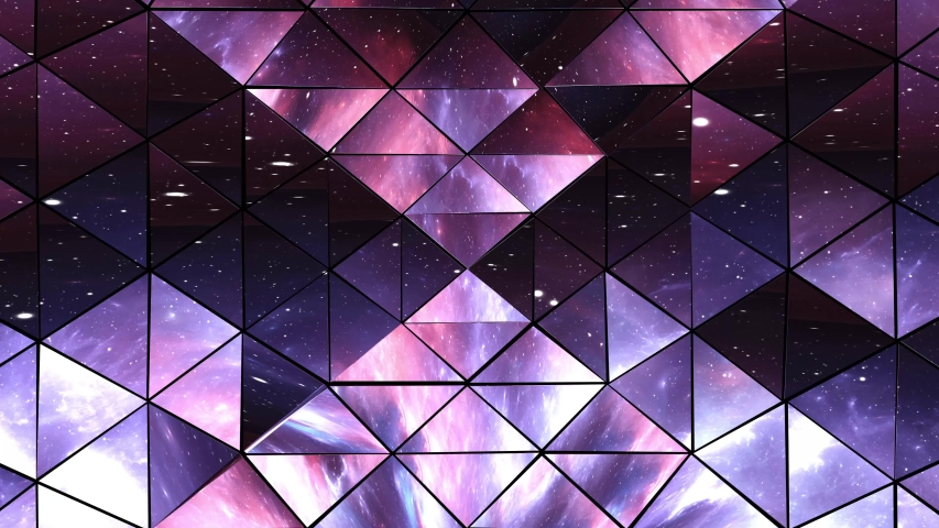 Abstract isometric prism with the reflection of the space, Kaleidoscope reflection of the space. | Shutterstock HD Video #1046871532
