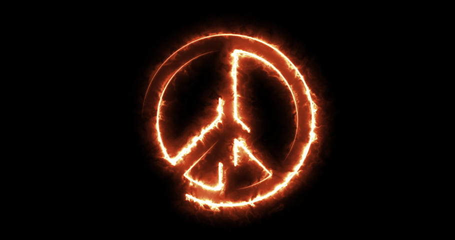 4 different peace symbol animations | Shutterstock HD Video #1046929192