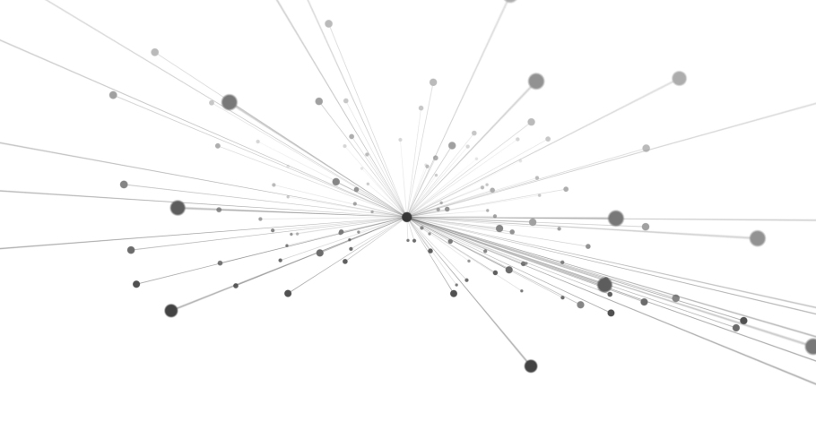 Abstract Moving Network, Dots and Lines Connecting, Animation Background for Technology, Science and Engineering, 3d Rendering | Shutterstock HD Video #1046995462