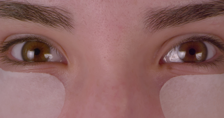 Female green-brown Eyes, With Cosmetics Patches .  Extreme macro.   Shutterstock HD Video #1047112192