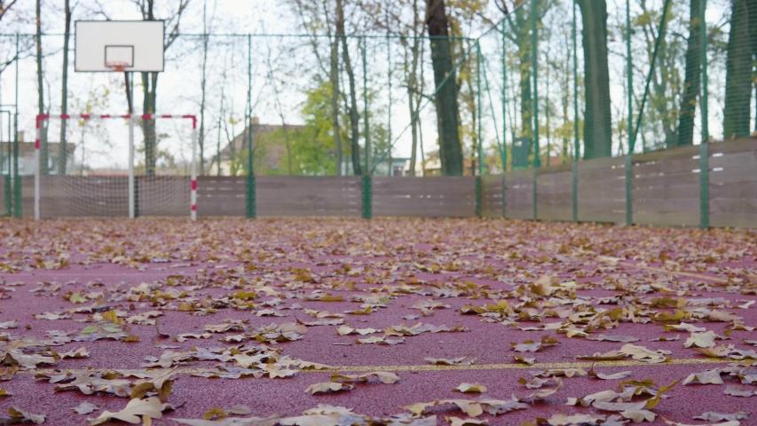 A view of an outdoor sports field. | Shutterstock HD Video #1047213622