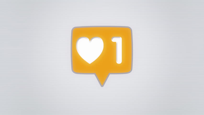 "Social Media ""Likes"" counter icon. Going Viral concept animation 