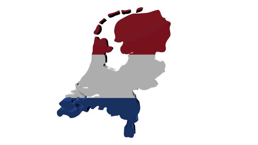 Netherlands Map Flag With Container Ships Departing Animation