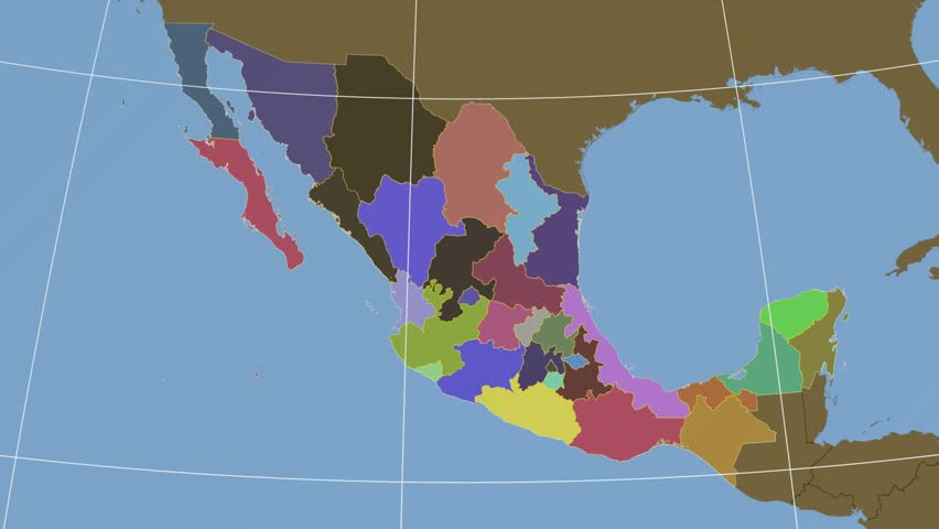 Sinaloa State Map.Sinaloa State Extruded On The Stock Footage Video 100 Royalty Free