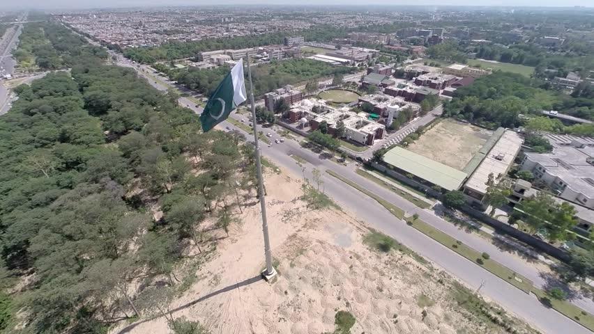 Pakistan Flag at Islamabad Express way