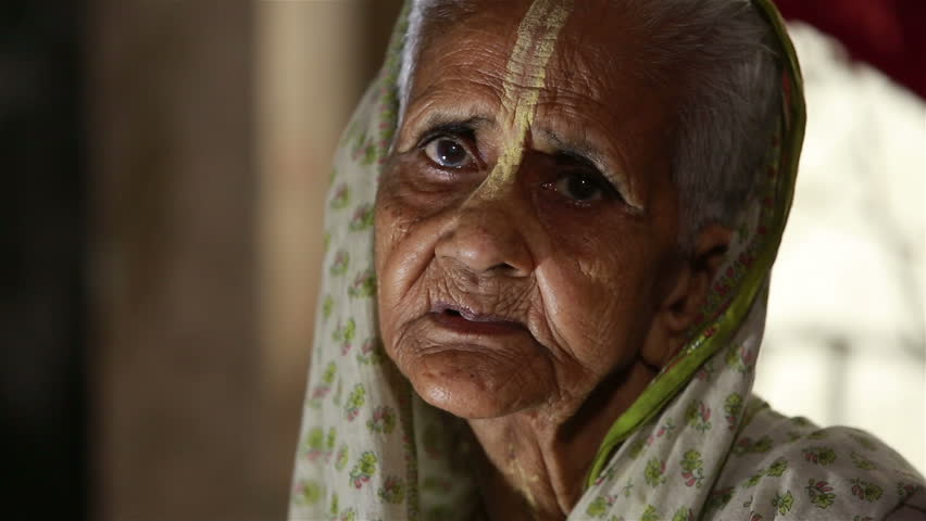 Image of: Depression Vrindavan India June 13 2015 Very Old Sad Indian Woman In White Sari Widow Sitting On Her Bed In Dormitory At The Ashram And Prayer Shutterstock Vrindavan India June 13 Stock Footage Video 100 Royaltyfree