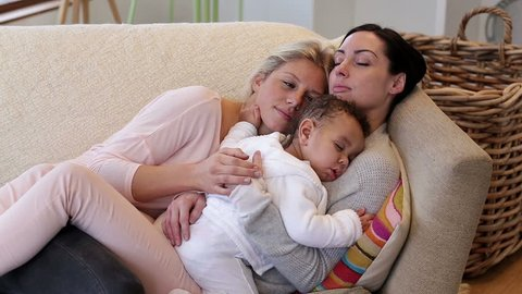 Same Sex Couple Sleeping On Stock Footage Video (100% Royalty-free)  10674692 | Shutterstock