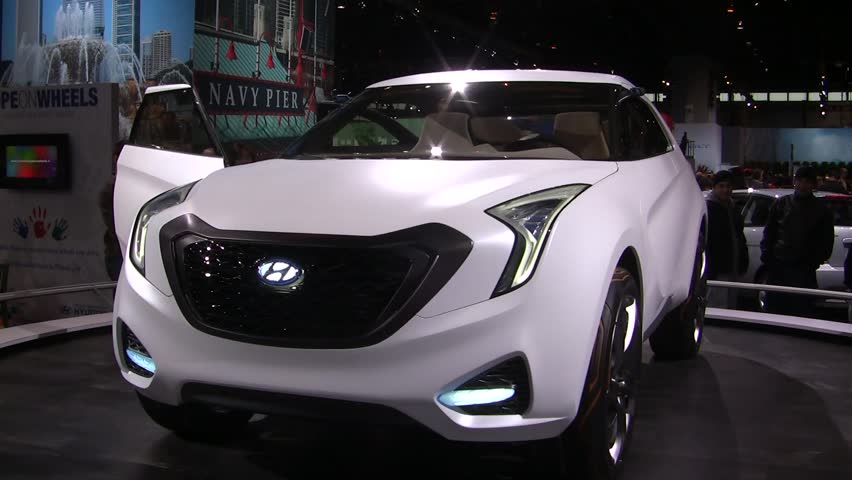 CHICAGO, IL - FEBRUARY 20: Hyundai Curb Concept car at the International auto-show on February 20, 2011 in Chicago, IL