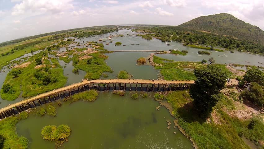 Time Lapse Of Dry River Under The Bridge In India Stock Footage ...