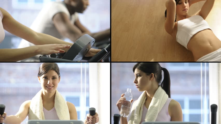 HD Montage of beautiful young woman at health club | Shutterstock HD Video #1070422