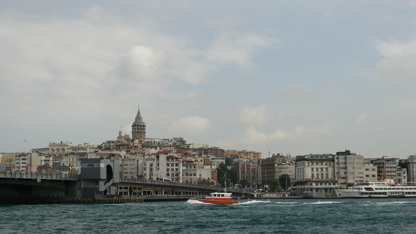 Time lapse of the Galata Bridge and Golden Horn in Istanbul Turkey | Shutterstock HD Video #10715222
