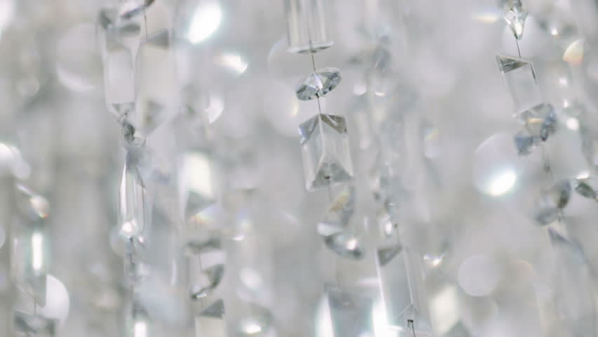 Crystal Chandelier. Close Up Of The Crystals. Close Up Shot Of A ...