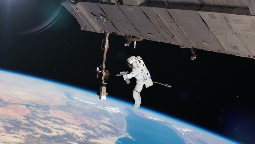 astronaut working in space - photo #16