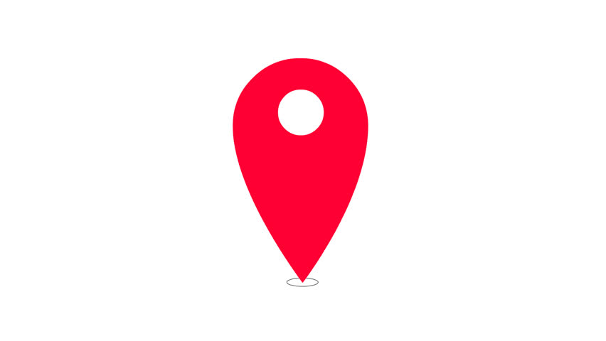Location Emoji Icono Ubicacion: Flat Colored Location Icon Stock Footage Video (100